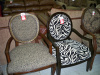 Leopard and Zebra Print Accent Chairs